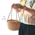 ナンタケットバスケット教室品川オープンバスケットきれいに編む方法ゆみぱん藤澤