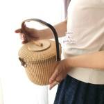 ナンタケットバスケット教室品川7ラウンドパース蓋つきバスケットきれいな編み目の作り方お出かけバッグ三澤