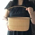 ナンタケットバスケット教室品川10toteトートきれいな編み目の作り方お出かけバッグ渡邉
