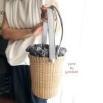 ナンタケットバスケット教室品川サンドペールウッドステーブパールを使った大人可愛いスタイル岸田オリジナル内袋制作