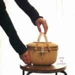 素敵なナンタケットバスケット教室東京品川ゆみぱん7オーバル蓋付きロンドン出展作品